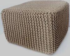 Elite Home Collection intrecciato a mano a maglia Pouf, 40 x 45cm, latte macchiato