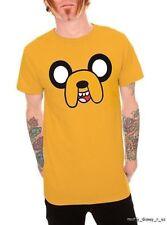 New Adventure Time Jake Dog Face Top Shirt Tee T-Shirt Yellow XXL 2X XX - Large