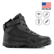 Maelstrom® PATROL 6'' Black Tactical Duty Work Boots with Zipper