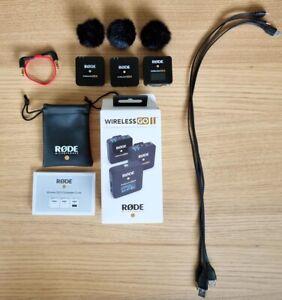 Rode Wireless GO II Digitales 2-Kanal Drahtlos Mikrofonsystem - Schwarz (4008360