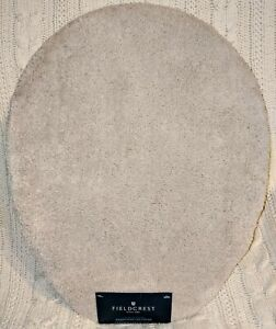 Fieldcrest Elongated Toilet Lid Cover Spa Collection Beige Linen New NWT 0299