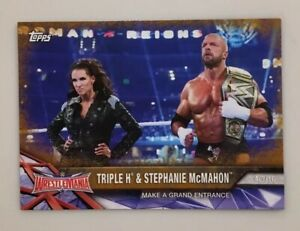Triple H & Stephanie 2017 Topps Road to Wrestlemania Bronze Parallel #66  WWE
