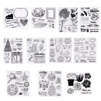 klar, transparente stempel silikon - kautschuk scrapbooking frohe weihnachten
