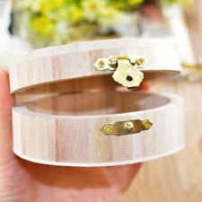 1pc Round Handmade Wooden Jewelry Box Wood Creative Crafts Storage Box DIY Gift
