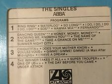 """RARE  SEALED """" ABBA"""" STEREO 8 Track Tape """"THE SINGLES"""" 25 SONGS"""