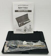 "Digital Caliper Electronic 0-6"" Auto Power Off Data Saving Mountain Tools & Case"