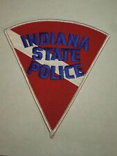 Indiana State Police Red, Blue and White Pie Shape Iron On Shoulder Patch