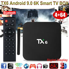 TX6 Android 9.0 6K 4+64G Dual WIFI BT4.1 TV BOX ALLWINNER Quad Core USB 3D Movie