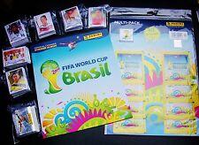 Fußball WM 2014 Brasilien Komplett Satz  640 Sticker  + Softcover - Leer-Album