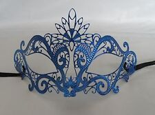 Blue Filigree Metal Masquerade Mask No 2 Express Post Available