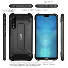 Huawei P20 Pro Case Silicon Rugged Hybrid Dual Layer Cover Slim Shockproof Black