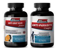 immune system vitamins - ANTI-GRAY HAIR - ANTI-PARASITE COMBO 2B - garlic immune