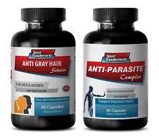 parasites cleanse for humans - ANTI-GRAY HAIR - ANTI-PARASITE COMBO 2B - zinc ca