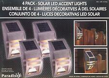 Paradise 4 Paquete De Energía Solar Pared/Valla Acero Inoxidable LED de luces de acento Nuevo