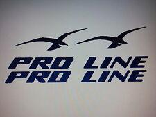 2   PROLINE BOAT DECALS 30 inch set Marine Vinyl black set pro line decals