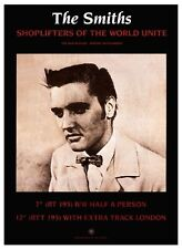 the Smiths POSTER Shoplifters Of The World *LARGE* Promo Morrissey Elvis Presley