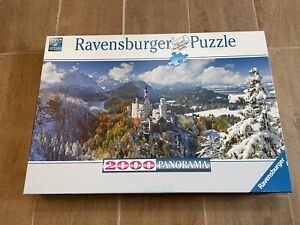 Ravensburger Puzzle 2000 Piece Panorama 166916 Neuschwanstein Castle