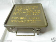 US ARMY VIETNAM : CAISSE METAL 1ers SECOURS 1973 JEEP ? FIRST AID BOX 1973