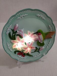 Hummingbird Home Decor Light Up Lilly's Plate or Wall Hang