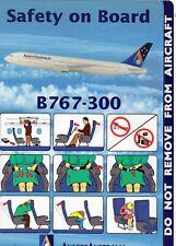 ANSETT AUSTRALIA 767-300 SAFETY CARD