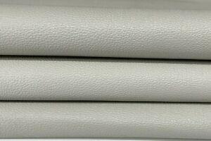 PEBBLE GRAINY GREY Italian Goatskin leather skin skins hides 5sqf 0.7mm #A7582