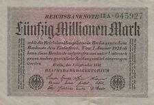 * Ro. 108b - 50 millones de marcos-Deutsches Reich - 1923-Fz: a *