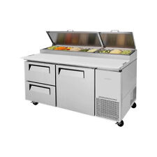 Turbo Air Tpr 67sd D2 N 67 Two Section Refrigerated Pizza Prep Table 200 C