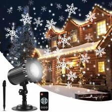 ALOVECO Christmas Snowflake Projector Lights, Upgrade Rotating LED Snowfall for