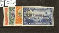 HONDURAS (P1008B) 1943 TRAIN   SET EX ARCHIVES SURCH SPECIMEN MNH