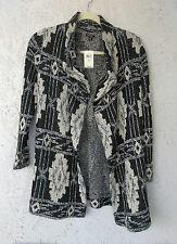 NWT $129 Lucky Brand Women's Deco Cardigan Black Multi Sweater Medium (US 8-10)