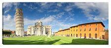 Quadro moderno torre di Pisa piazza dei miracoli duomo tela canvas 40x120 stampa