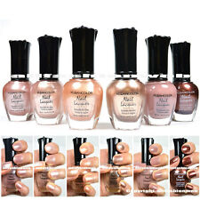 Kleancolor 6 Nail Polish Natural Nude Beige Colors Lot of 6! Lacquer Collection