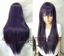 wigs  Sain Femmes violet foncé long droit Cosplay perruque de cheveux de fête