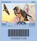 2013 francobollo Uccelli delle Alpi: Gipeto DN CODICE A BARRE 1528