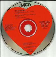 J. Valentine THE NEWTRONS My heart beats for you 7 INCH &LONG PROMO DJ CD single