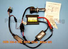 HID Motorcycle Slim Kit H4-3 Bi-xenon Hi Lo 6000K 50W 55W 12V Hi Low Bike Kit