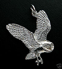 Pendentif CHOUETTE - Pendant OWL - ARGENT MASSIF