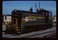 Original Slide SNCT Seattle & North Coast SW1200 55 In 1981 At Seattle WA