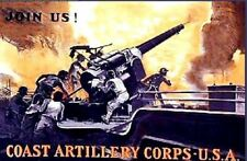 U.S.COAST ARTILLERY  ENCYCLOPEDIA WW1 GUN, SHELL,FUZE  RARE NEW