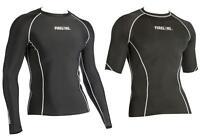 Kids Mens Compression Top Short or Long Sleeve skins + FREE Black Football Socks