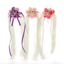 Mariage perles roses ruban bouquet corsage demoiselle d'honneur bracelet fleur
