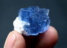 New Listing11.5g Rare Transparent Blue Cube Fluorite Crystal Mineral Specimen/China