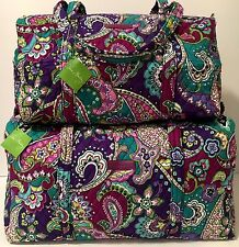Vera Bradley HEATHER SMALL & LARGE DUFFEL Bag and Set NWT