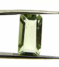 4.60 Ct Natural Green Amethyst Loose Emerald Cut Gemstone Stone - 13374