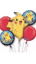 POKEMON Pikachu Stagnola Pallone Bouquet di visualizzazione Ideale Festa Di Compleanno Decorazione