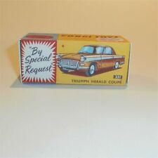 Corgi Toys  231 Triumph Herald Sedan Gold empty Repro Box