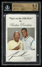 2 10s! 1998 BGS 9.5 GEM TIGER WOODS W/DAD EARL GOLF RC ROOKIE CARD ON 18TH HOLE