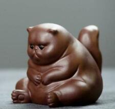 chinese Yixing Zisha pottery tea pet cat