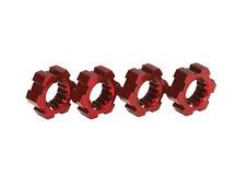TRAXXAS 7756R XMAXX Trascinatori Esagonali Alluminio Rossi/WHEEL HUBS HEX RED TR