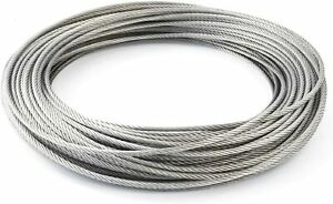 Stainless Steel Wire Rope Metal Cable Rigging 7 x 7 1mm 2mm 3mm 4mm 5mm 6mm 8mm